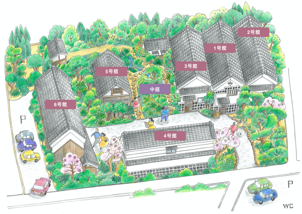日本玩具博物館のイラスト内装地図